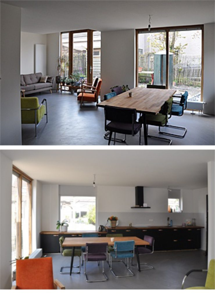 Verbouwing woonhuis, interieur Standerdmolen 24 in Barendrecht.